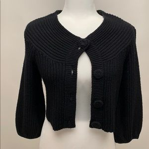 Women's Black 3/4 Length Cardigan